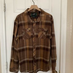 O'Neill button up brown flannel